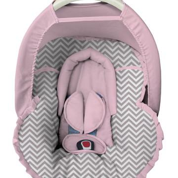 Capa bebê conforto Protetor Cabeça Capota Solar Chevron