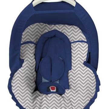 Capa bebê conforto Chevron Protetor Cabeça Capota Solar
