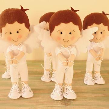 Anjinhos de pé para decoração de batizado
