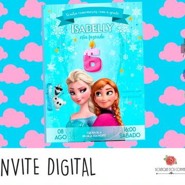 Convite Digital Aniversário Frozen Light