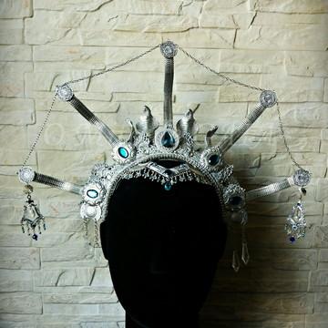 Headpiece Rainha do Egito - Prateada