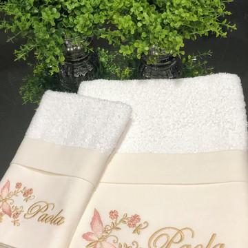 Toalha de rosto e lavabo Borboleta