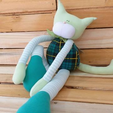 Gato Ronron verde