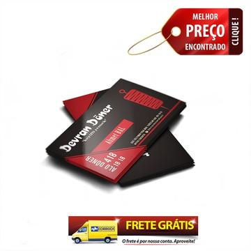 Cartão De Visita Verniz Total Colorido Frente E Verso 300g