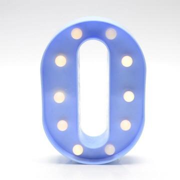 Luminária Led Letra O Azul