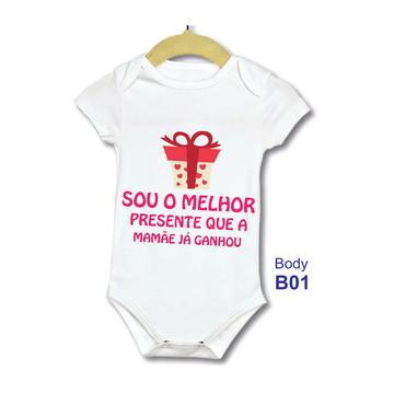 805789f912 Body bebe Infantil Frase Sou o melhor Presente
