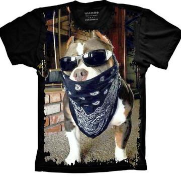 Camiseta Cachorro Pitbull Pit-bull