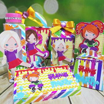 Kit festa personalizada slime