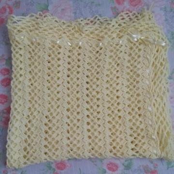 Manta para bebê em Crochê com lã infantil