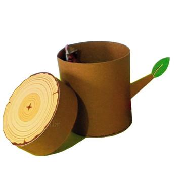 Arquivo de corte silhouette caixa tronco