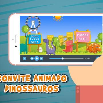 Convite Animado Dinossauros Baby