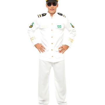 Fantasia Capitão da Marinha Adulto masculino