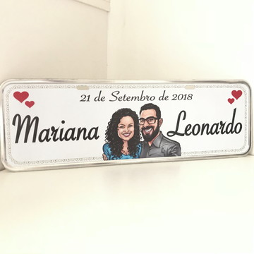 Placa noiva casamento customizada