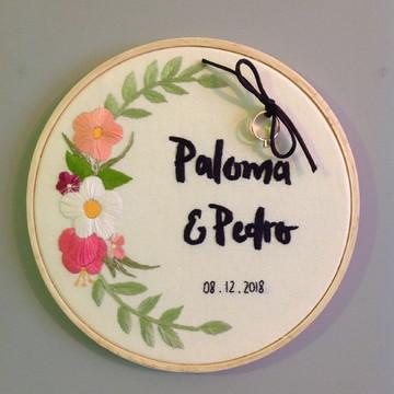 Bastidor Porta Alianças Floral