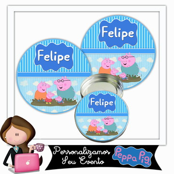 Rótulo para latinha peppa pig