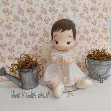 Topo de bolo anjinha Batizado