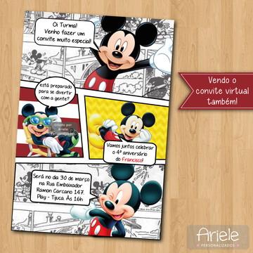 Convite - Mickey