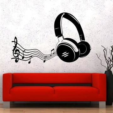 Adesivo Decorativo Fone Music