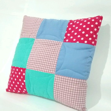 Capa para almofada patchwork colors a