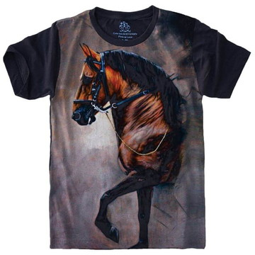 9fff139a95 Camiseta Cavalo Horse Masculino e Feminino