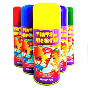 Tinta da Alegria Para Cabelo Em Spray | 120ml c/24