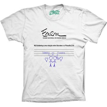 Camiseta Enem Sócrates e Filosofia