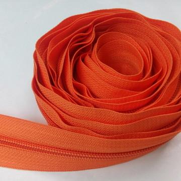 Zíper de nylon grosso laranja