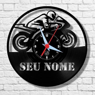 Moto - Personalizada - Relógio de Parede