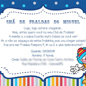 CONVITE DIGITAL - CHÁ DE FRALDAS