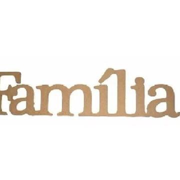 Palavra Decorativa Família - Medida: 53cm x 13,5cm x 15mm