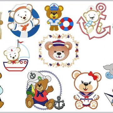 Kit Infantil Nº 2-10 mil Matrizes PES por e-mail Bordado