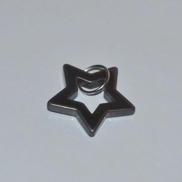Estrela de hematita 5 pontas pingente