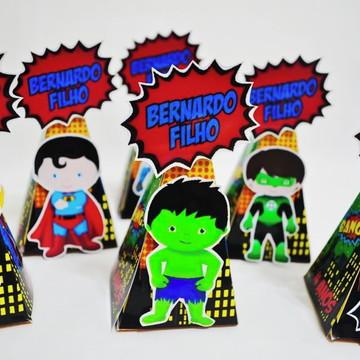 *** Caixa Pirâmide Super-herói
