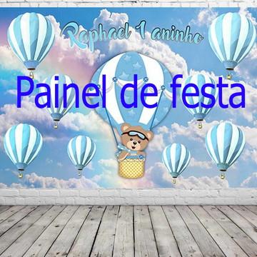 Painel de festa balão azul