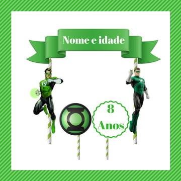 Topo de Bolo do Lanterna Verde