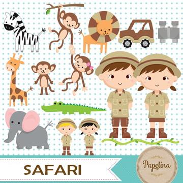 Kit Digital Safari Menino Menina