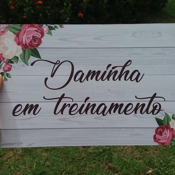 Placa de casamento frase personalizada