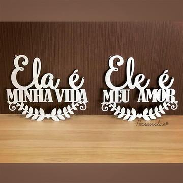 Placa De Cadeira Personalizado Casamento Decoração Mdf