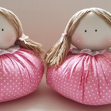 Bonecas fuxico para decoração