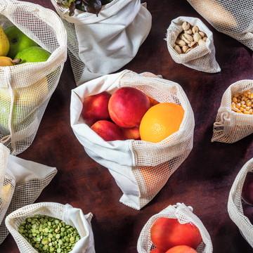 Kit saquinhos a granel - 100% algodão
