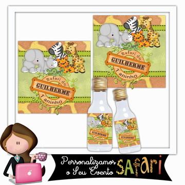 Rótulo para garrafinha safari baby