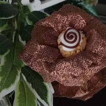Forminha para doces em Tela Escócia - Rosa Virada Bronze