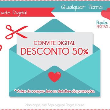 Convite com Desconto de 50%