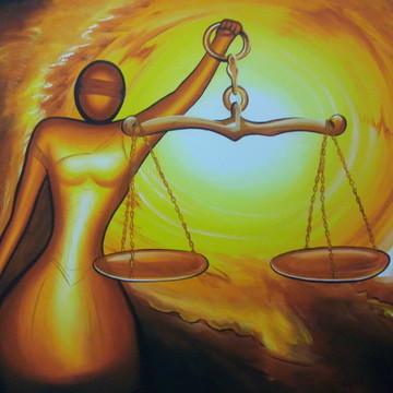 QUADRO JUSTIÇA PINTURA EM TELA EM PROMOÇÃO