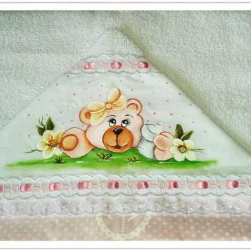 Toalha de capuz com toalha fralda