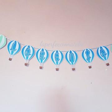Varal de bandeirinhas balão