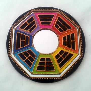Espelho redondo para porta Baguá