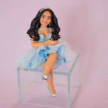 Debutante Sentada com Vestido Tiffany