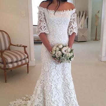 Vestido Noiva Boho Renda Guipir Sob Medida