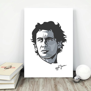 Placa decorativa MDF Ayrton Senna